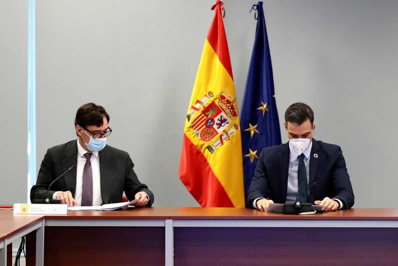Salvador Illa y Pedro Sánchez.