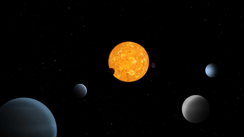 Representación artística del sistema planetario TOI-178.