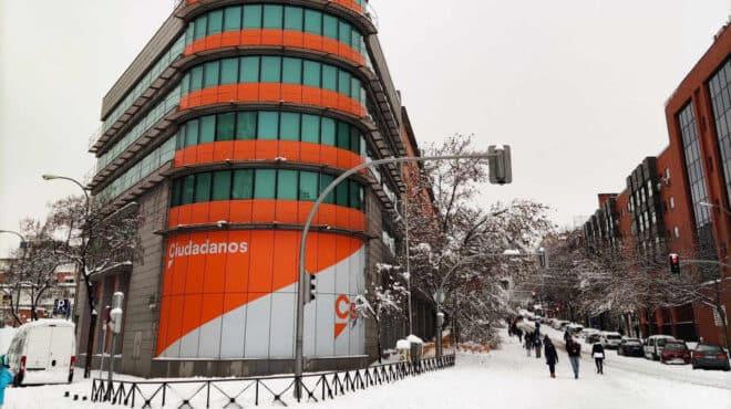 Sede de Ciudadanos en Madrid.