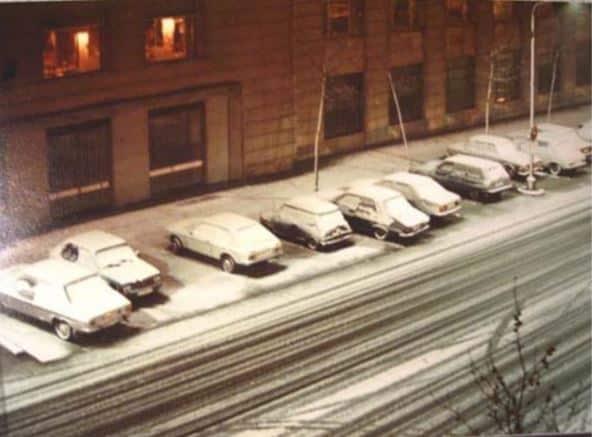 Cuando los madrileños esquiaron en el Parque del Oeste las nevadas que puede superar Filomena 1984