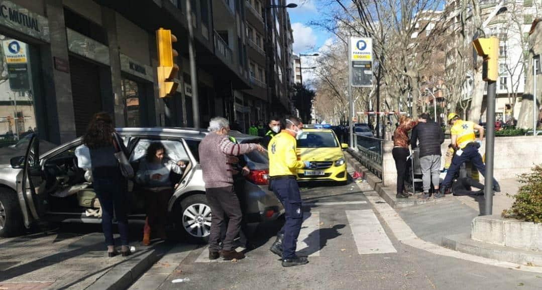 La escena del atropello en Reus (Tarragona).