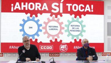 CC.OO. y UGT convocan movilizaciones el 11 de febrero para exigir la subida del SMI