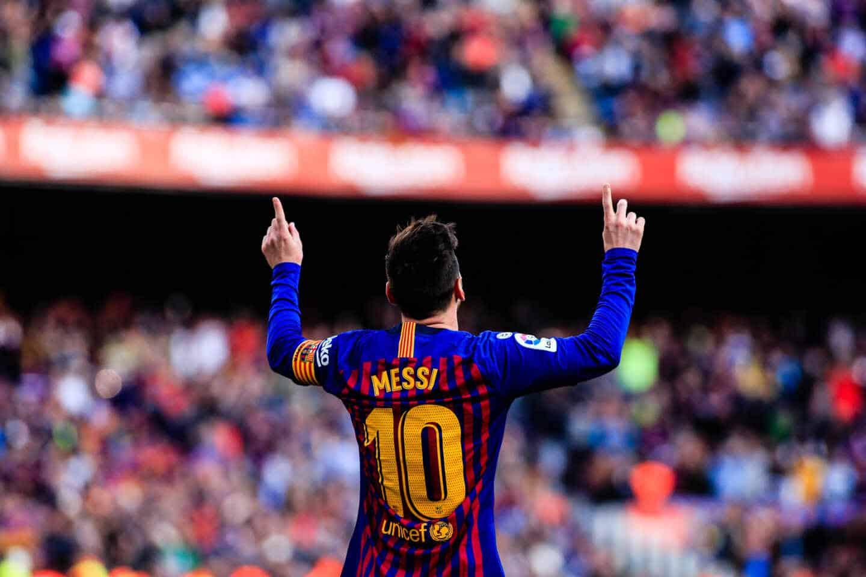 Leo Messi celebra un gol, en una imagen de archivo.