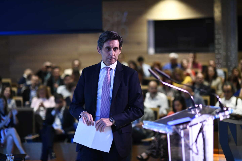 El presidente de Telefónica, José María Álvarez-Pallete, durante una conferencia en la Fundación Telefónica