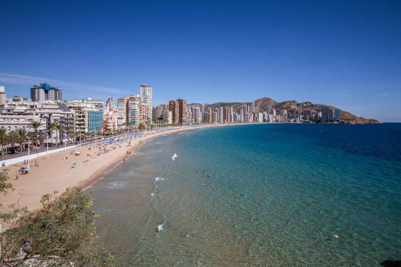 Playa de Levante de Benidorm (Alicante).