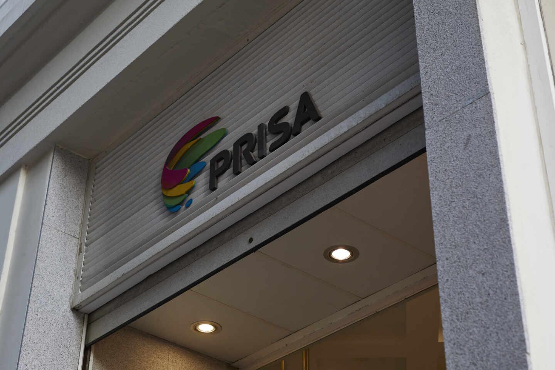 Fachada grupo Prisa con logo