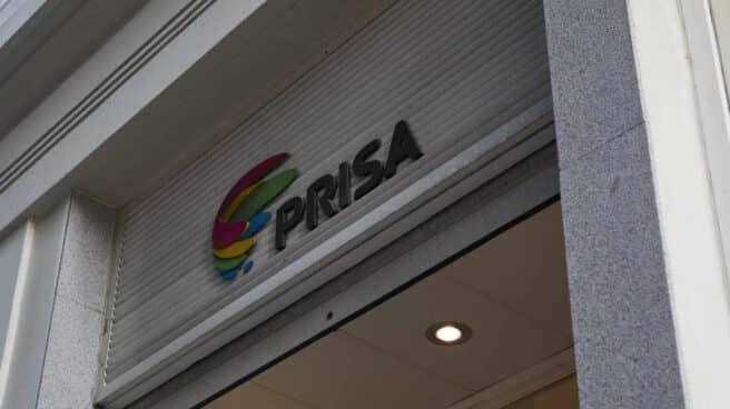 Logo de Prisa de la Calle Gran Vía de Madrid, en España