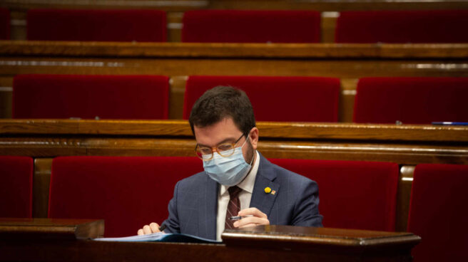 El presidente en funciones de la Generalitat, Pere Aragonés.