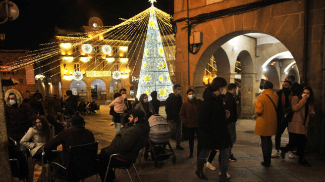 Navidad en la Plaza Mayor de Orense.