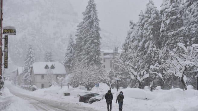 Nieve en el Pirineo aragonés