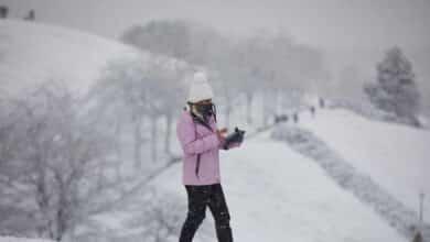 Alerta de nivel rojo por fuertes nevadas hoy en Madrid y Castilla-La Mancha