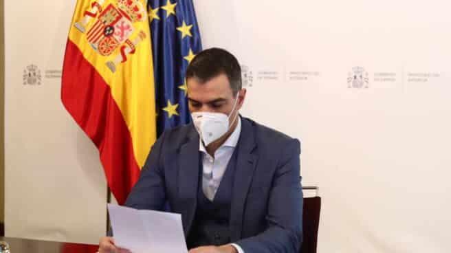 El presidente Pedro Sánchez, durante la reunión del CECOD.