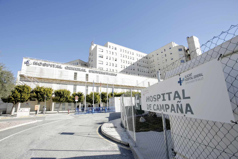 Hospital de campaña de Alicante, ubicado en el recinto del Hospital General Universitario.
