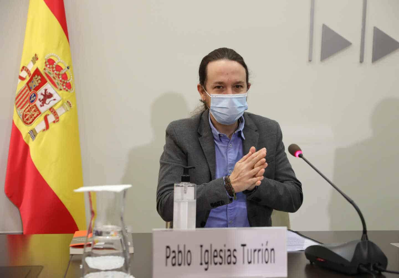 El vicepresidente del Gobierno y ministro de Derechos Sociales y Agenda 2030, Pablo Iglesias
