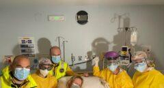 La madre que dio a luz antes de llegar al hospital en Madrid.