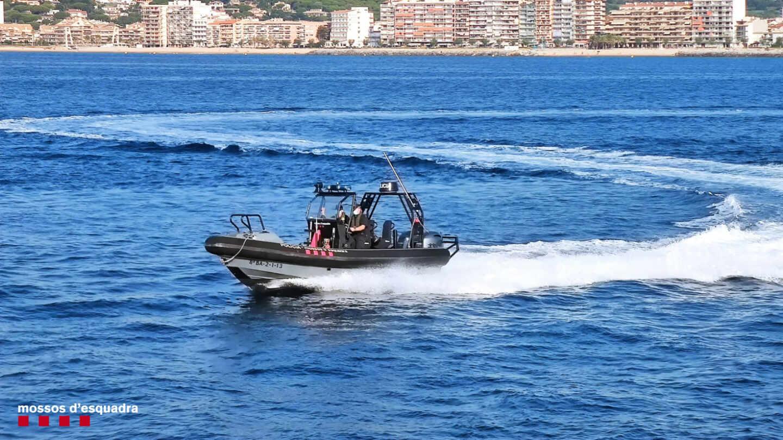 Embarcación de la Policía Marítima de los Mossos d'Esquadra.