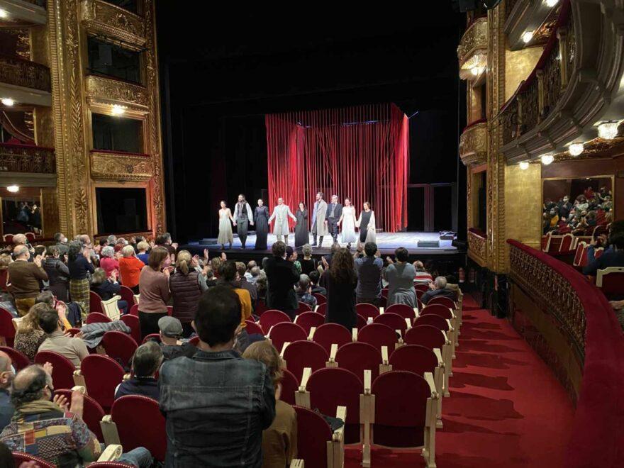 Estreno de 'Mariana Pineda', de Federico García Lorca, en el teatro Español de Madrid.