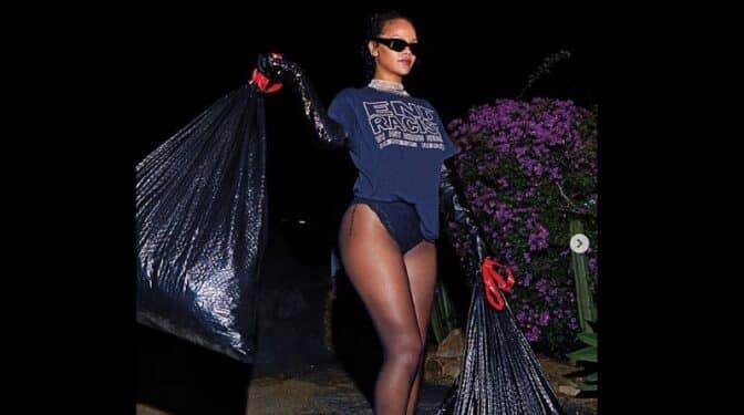 """Rihanna se despide de la presidencia Donald Trump """"sacando la basura"""""""