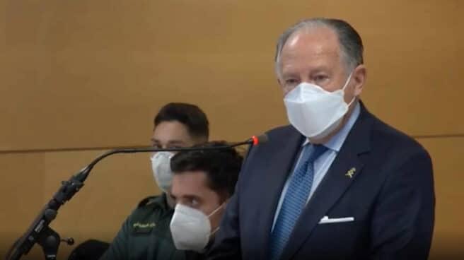 Sanz Roldán, ex director del CNI, durante su comparecencia ante el Juzgado