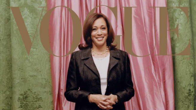 Kamala Harris en la portada de febrero de 'Vogue'.