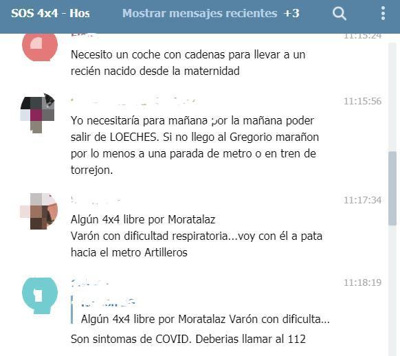"""Filomena llena las calles de solidaridad: """"Llevo unos 40 desplazamientos al hospital"""""""