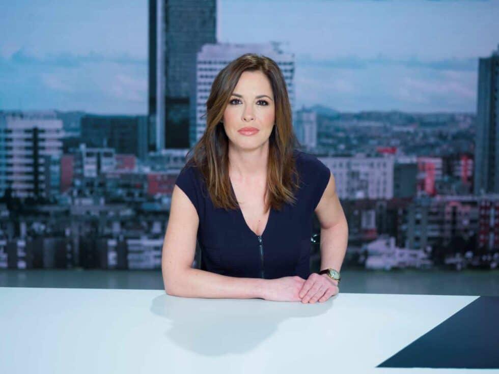 Mamen Mendizábal, presentadora de La Sexta del magacín informativo Más Vale Tarde.