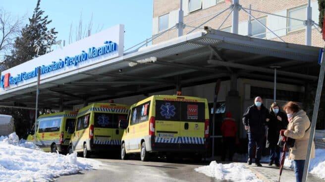 Entrada del hospital Gregorio Marañón de Madrid.