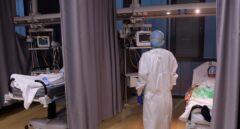 Pacientes ingresados con coronavirus en el Hospital Río Hortega de Valladolid.