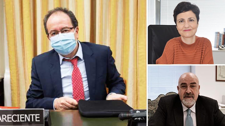 A la izquierda, José Luis Rodríguez Álvarez, presidente del CTBG. A la derecha, Esperanza Zambrano y Javier Amorós.