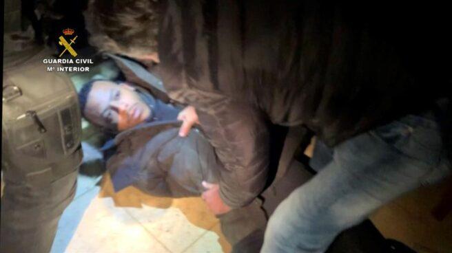 Momento de la detención de José Arcadio D.N, 'El Melillero'.