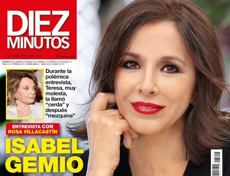 Isabel Gemio, en la portada de Diez Minutos.
