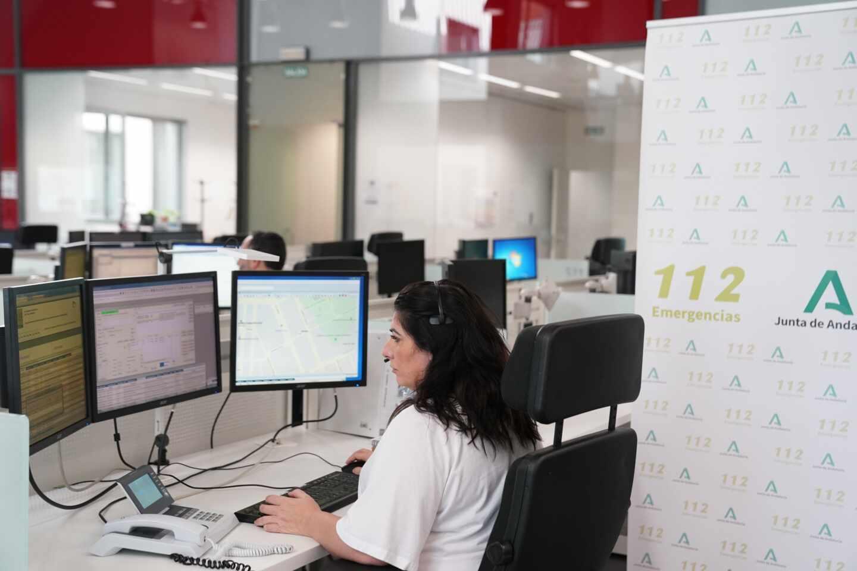 Centro de emergencias del 112 de Andalucía.