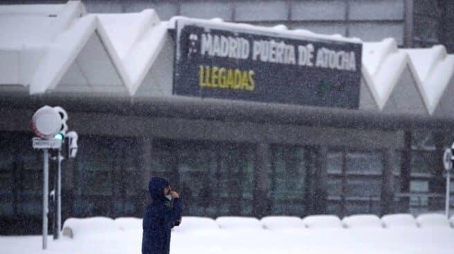 Inmediaciones de la estación de Atocha de Madrid.