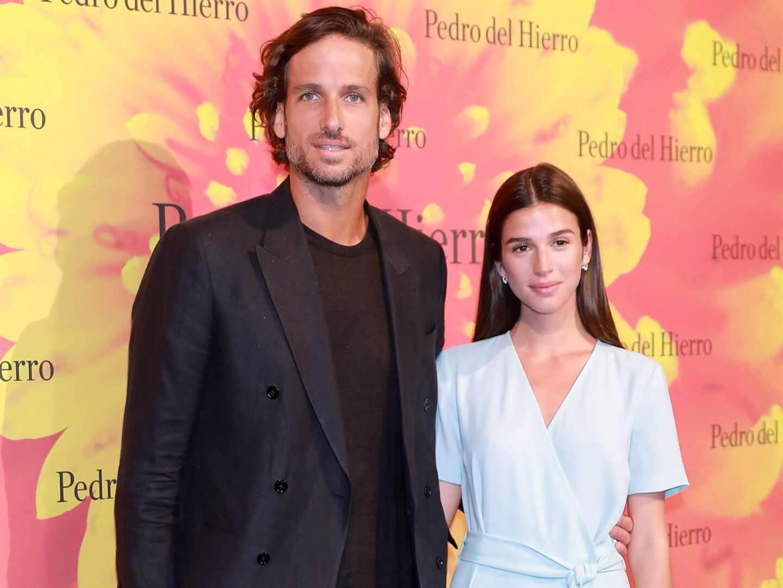 Feliciano López y Sandra Gago, padres de su primer hijo, Darío