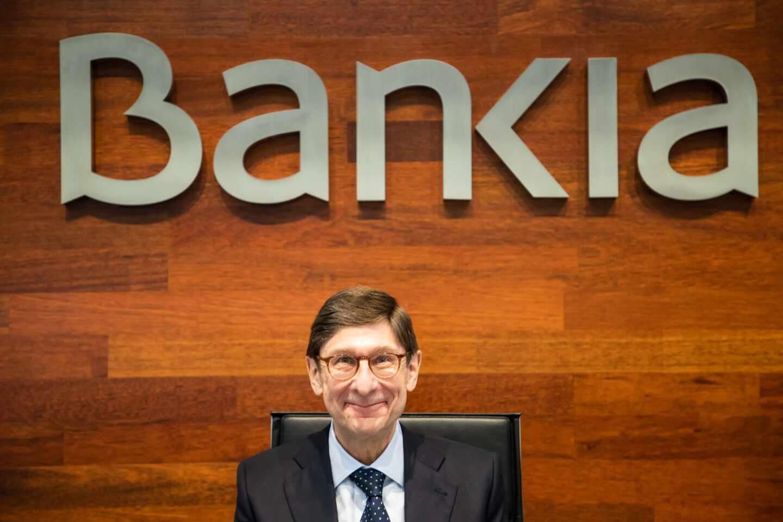 José Ignacio Goirigolzarri es presidente de Bankia, en la última presentación de resultados de la entidad en solitario.