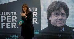 Laura Borrás, durante un mitin de Junts per Catalunya de cara a las elecciones del 14-F.