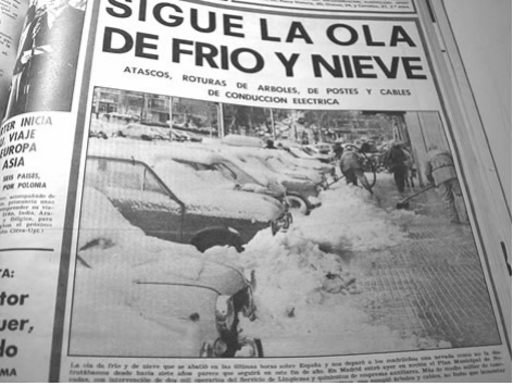 Cuando los madrileños esquiaron en el Parque del Oeste: las nevadas que puede superar Filomena