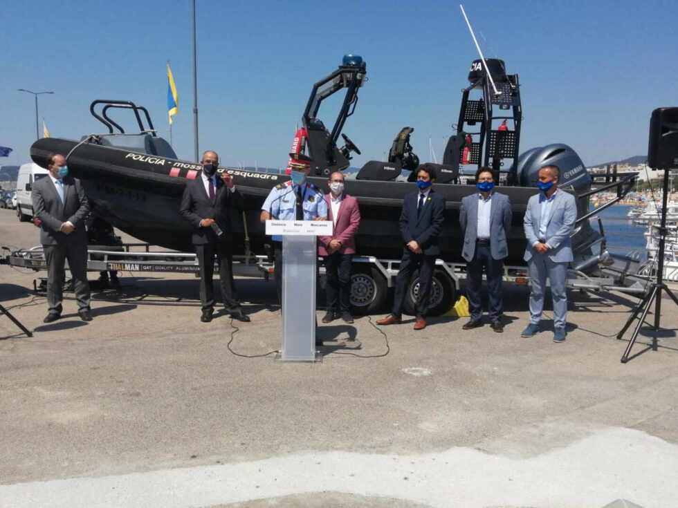 Inauguración de la base de la Policía Marítima de los Mossos en el Puerto de Palamós.
