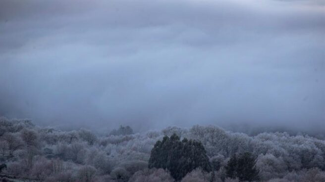 Paisaje helado al amanecer del día 6 de enero.