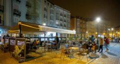 Terraza de un bar en Burgos.