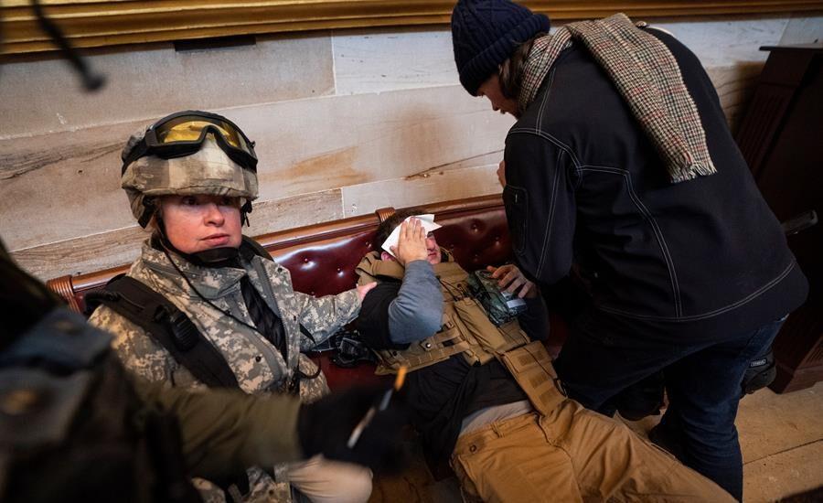Asalto al Capitolio de los Estados Unidos.
