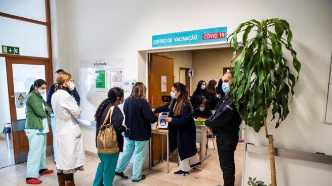Un centro de vacunación contra el coronavirus, en Portugal.