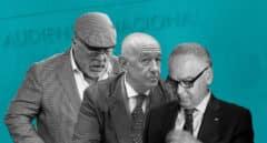 Imagen de Villarejo, Eugenio Pino y Marcelino Martín Blas, imputados en el caso Kitchen