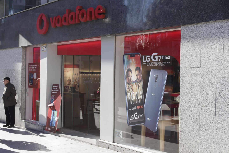 Una tienda de Vodafone en España