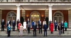 Foto de familia del Consejo de Ministros en La Moncloa.