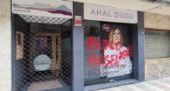 Pintada aparecida el miércoles en la sede de Podemos en Durango.