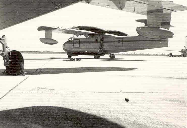 Uno de los primeros Canadair que llegaron a España en el aeropuerto