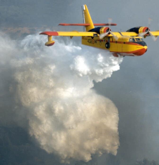 50 años del Canadair, el avión que salva los bosques