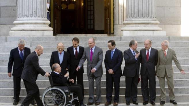 El rey Juan Carlos, Manuel Fraga, Santiago Carrillo, Landelino Lavilla y otros protagonistas del 23-F, en el 30 aniversario celebrado en el Congreso en 2011.