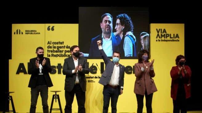 Acto central de campaña de ERC, en Gerona.